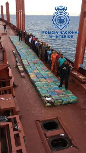 Interceptadas 5,5 toneladas de cocaína destinadas a España