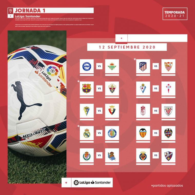 LaLiga Santander 2020/21 arrancará el fin de semana del 12-13 de septiembre