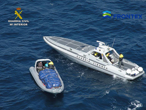 Detectada una embarcación con 1.413 kilos de marihuana en el Adriático