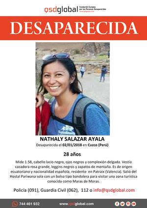 La Policía Nacional participa en Perú en las investigaciones por la desaparición de Nathaly Salazar