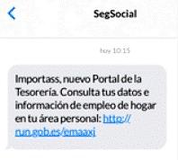 Campaña divulgativa de la TGSS por SMS dirigida al colectivo del hogar Import@ss