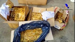 14 toneladas de picadura de tabaco ilegales iban a ser puestas a la venta a través de Internet